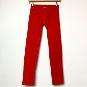Raleigh Denim Handcrafted Red Thin Jeans (26)